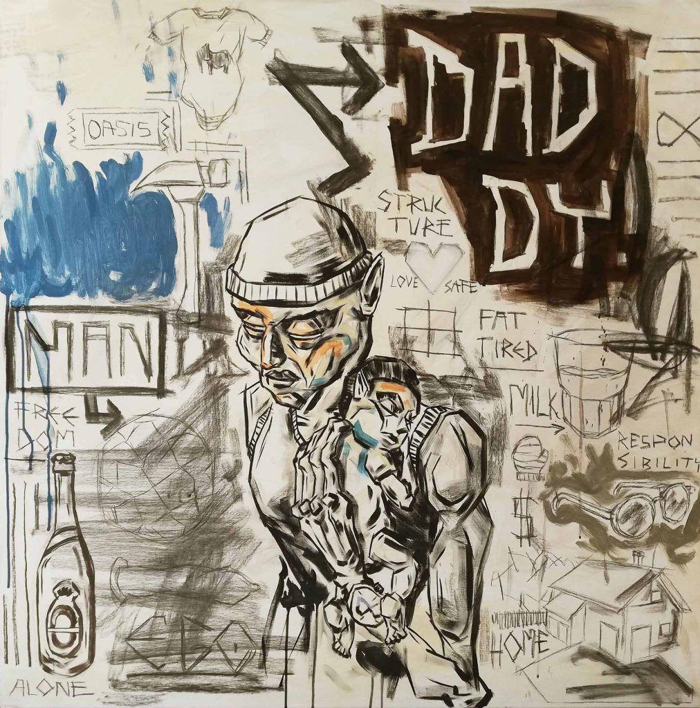 Maleri til salg Daddy