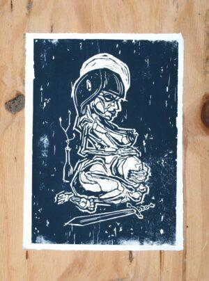 Kunst tryk gravid kvinde