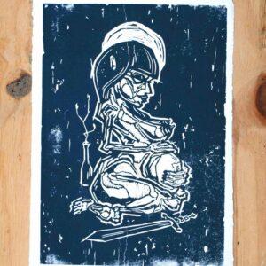 'Beskytteren' – håndlavet kunsttryk