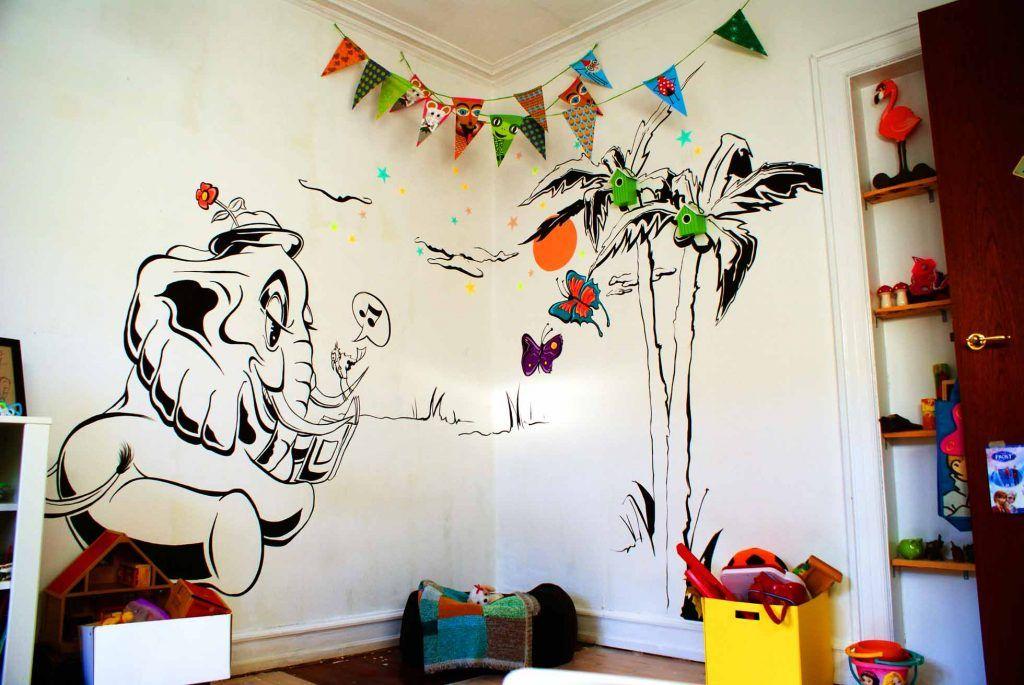 Vægmaleri af graffiti kunstner Jakob i