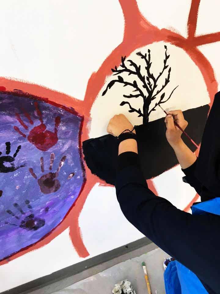 Kunst sjælsmark barn maler