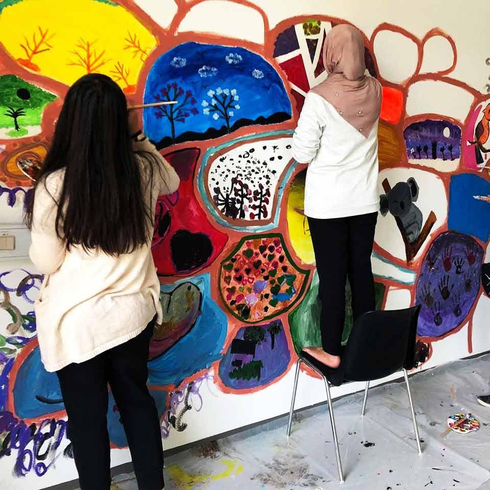 Kunst sjælsmark børn maler