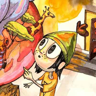 Børnebogsillustrationer Jakob i