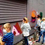 Graffiti workshop for børn og unge hvor de kan lære at male graffiti
