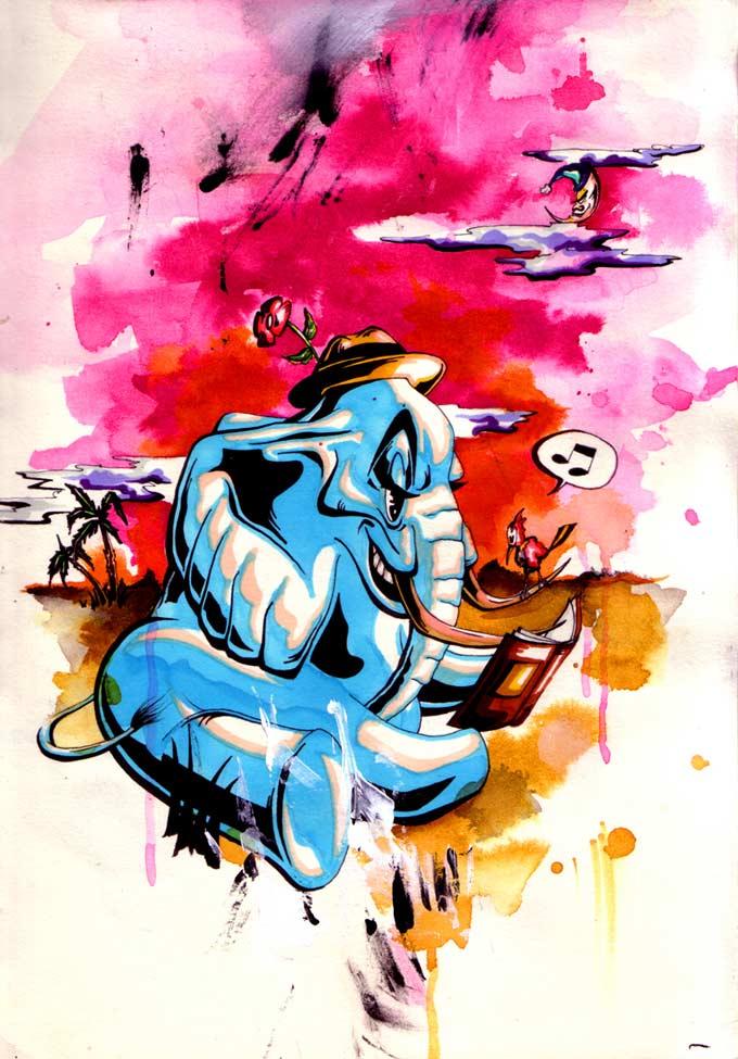 Børnebogsillustration