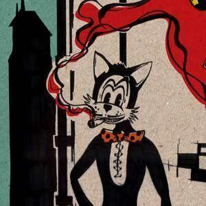 Tegneserie tegner har tegnet Fup kat tegneserien