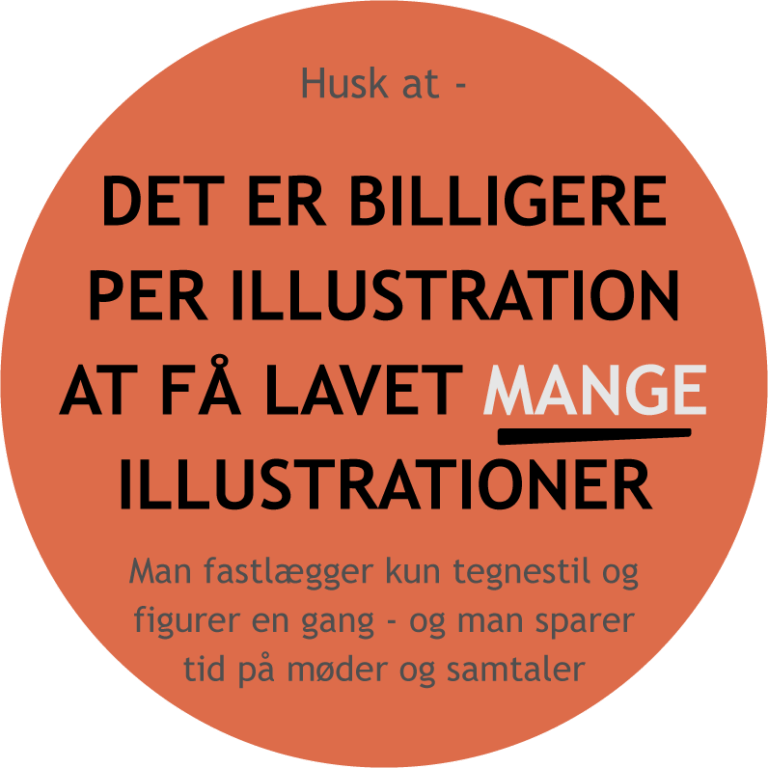 For man lavet mange illustrationer får man en billig illustrations pris