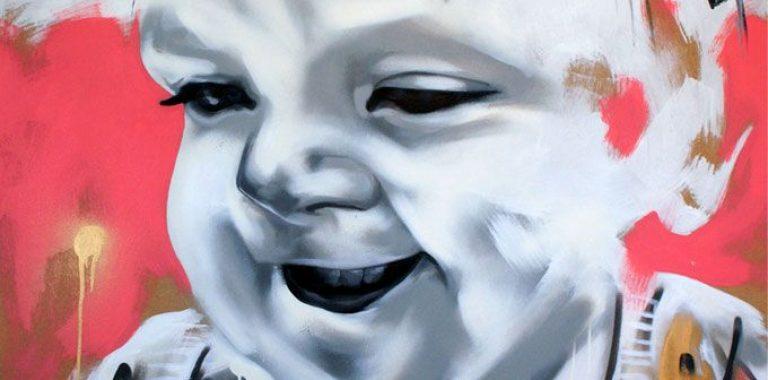 Graffiti maleri lavet på bestilling af kunstner