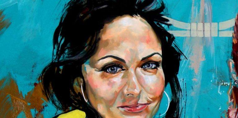 Bestil portrætmaleri af uddannet billedkunstner Jakob i - portræt af kvinde