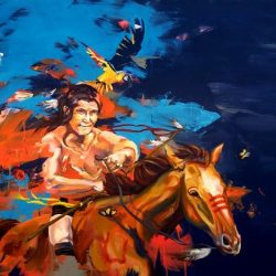 Maleri til salg - indianer filosofi