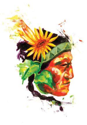 professionel tegner illustrator Jakob i har tegnet indianer