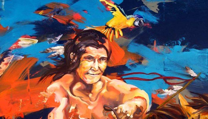 Maleri til salg indianer